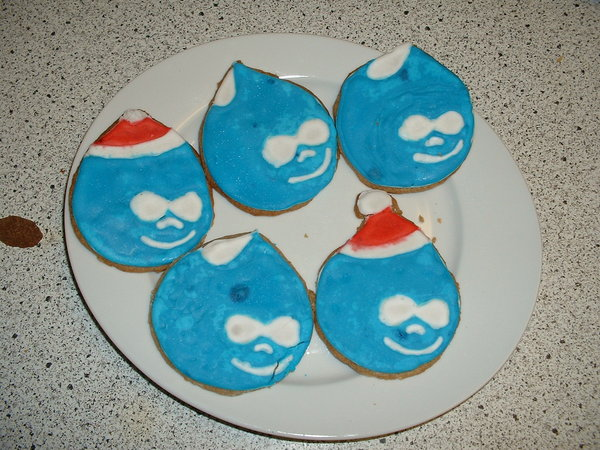 Druplicon cookies (looks like she saw my Drupalcamp Montreal shirt!)